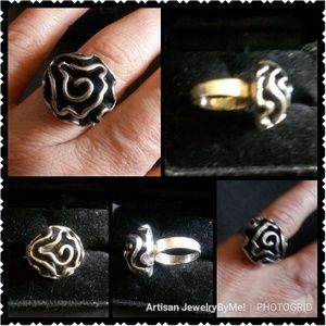 NewVtgHandmade70's-80s Solid Rose-Carnation Rings